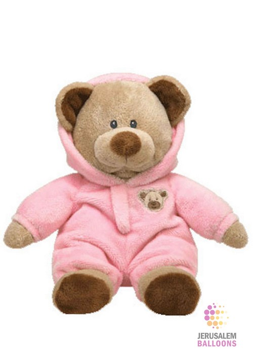 Pink Bear With Hood