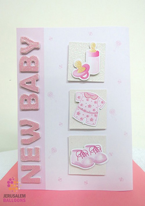3D Greeting Card Baby Girl