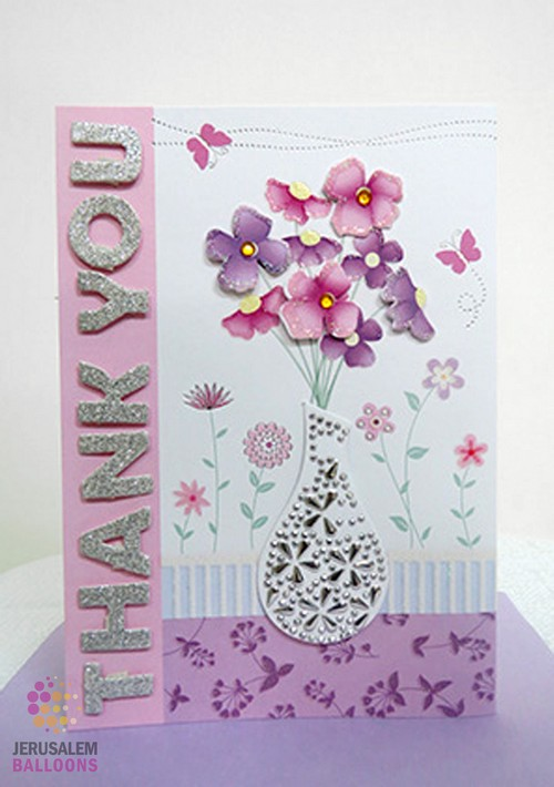 3D Greeting Card Thank you