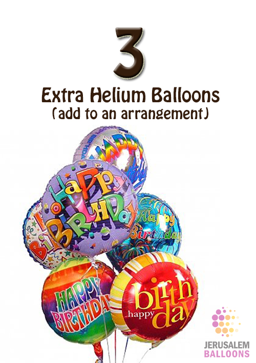 3 Extra Helium Balloons